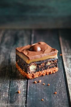 The Whimsical Wife: Salted Caramel No Bake Malteser Slice Brownie Recipes, Chocolate Recipes, Cake Recipes, Dessert Recipes, Malteser Recipes, Chocolate Bars, Tray Bake Recipes, No Bake Desserts, Just Desserts