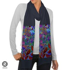 SOLD Scarf Floral Abstract Stained Glass! #zazzle #Scarf #Floral #Abstract #Stained #Glass #blue #red http://www.zazzle.com/scarf_floral_abstract_stained_glass-256341273611678120