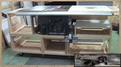 Recently I had a need to build a new table saw base for my saw. Rather than just building a simple replacement base, I opted to build one with lots of storag...