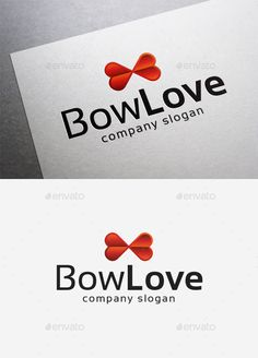 Bow Love  Logo Design Template Vector #logotype Download it here: http://graphicriver.net/item/bow-love-logo/10290658?s_rank=1551?ref=nexion