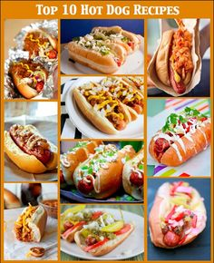 Top Ten Hot Dog Recipes for Tailgating 2013 http://gamedayr.com/recipes/top-10-hot-dog-recipes/