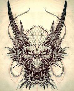 Dragon Tattoo is one of the most popular mystical tattoos. - Dragon Tattoo is one of the most popular mystical tattoos. Like most other mythological tattoos, dr - Phenix Tattoo, Backpiece Tattoo, Hannya Tattoo, Irezumi Tattoos, Tattoo On, Tattoo Bird, Wolf Tattoos, Head Tattoos, Body Art Tattoos