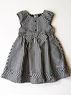Deux Par Deux BLack & White Checked Dress