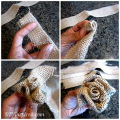 how to make burlap flowers | How to Make a Burlap Flower - DIY Inspired