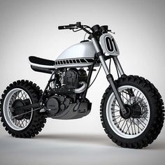 Ideas For Scrambler Motorcycle Yamaha Cars Honda Scrambler, Yamaha Xt 500, Scrambler Custom, Cafe Racer Motorcycle, Tracker Motorcycle, Moto Bike, Tw 125, Brat Bike, Cafe Racer Bikes