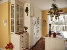 White Kitchen Cabinets Yellow Walls red and black french country kitchens designs | french country