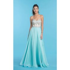 Coya Collection CL1546 Prom Under $300 Long Strapless Sleeveless (€235) ❤ liked on Polyvore featuring dresses, gowns, formal dresses, mint, long formal dresses, blue formal gown, formal gowns and blue prom dresses