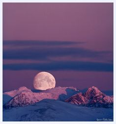 Moon on the cold horizon
