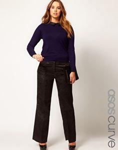 Enlarge ASOS CURVE Premium Wide Tux Trouser