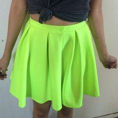 Dresses & Skirts - Neon skirt!