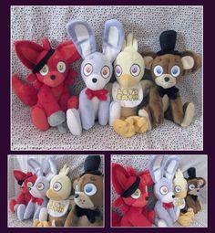 Five Nights At Freddy's Plush Gang by Fallenpeach on DeviantArt