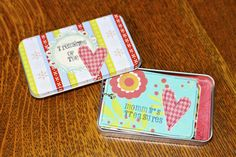 """simple quick to make """"Mommy's Brag Book"""" with matching tin"""