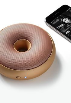 Lexon Hoop has an unquie donut designt, it is an ultraportable bluetooth speaker that you will love Le Manoosh, Cool Bluetooth Speakers, Portable Speakers, Cool Tech Gifts, Cool Tech Gadgets, Speaker Design, Cool Inventions, Technology Gadgets, Electronics Gadgets