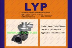 LYP-20908-4-6TURBO CHARGERCOMPRESORREPLACEMENT FOR MITSUBISHITD04