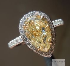 natural yellow diamond ring.  so our anniversary was yesterday...i think my husband forgot something