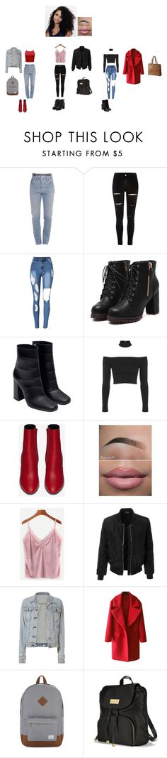 """Outfits of the day"" by shanacutie on Polyvore featuring Vetements, River Island, Zara, Topshop, Yves Saint Laurent, LE3NO, rag & bone, Herschel Supply Co., Victoria's Secret and SOREL"