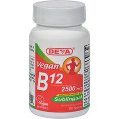 Deva Vegan Vitamins Sublingual B12 - 2500 Mcg - 90 Tablets