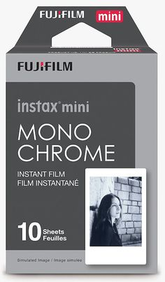 Fuji Instax Monochrome Film Now Shipping  Fuji's new Instax mini Monochrome file is  now shipping from Amazon . It's the same Instax mini format that we've grown to love for the  Instax Mini 8  and  Mini 70 , among others. As with other Instax mini film, it's not exactly cheap. You get 10 exposures for around $15. But, hey, now we've got some black and white action for our instant cameras again.   I'm not sure if the going rate will remain at $15; however, you can still  pre-order th..