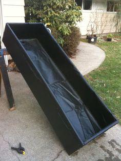 Goldfish Garage: A Two Car Fishroom: Plywood Lined Ranchu Tub