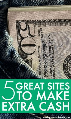 5 Great Sites to Make Some Side Cash. I believe that making extra money can change your life. Whether you are only able to spend a few hours each month on making extra money or if you have enough time to spend a few hours each week, I believe it is a great idea.