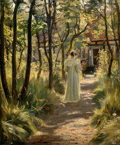 Marie In The Garden