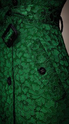 Green lace couture.  Inspiration for green gems