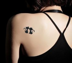Lovely Black cat Tattoo Temporary Tattoo Long by magicdecal2013, $3.99