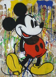 Mr Brainwash Oil Painting on Canvas Mickey Mouse by uniqueartdesings on Etsy Disney Mickey Mouse, Arte Disney, Mickey Mouse And Friends, Disney Art, Mickey Mouse Pop Art, Mr Brainwash, Mickey Mouse Wallpaper, Disney Wallpaper, Illustration Arte