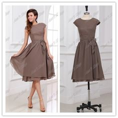 Real Image A-line Scoop Short Sleeves Knee Length Chiffon Mother of the Bride Dresses on AliExpress.com. $79.00