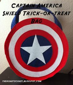 Looking for your next project? You're going to love Captain America Shield Trick-or-Treat Ba by designer Laura Prascher. - via @Craftsy