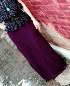 Maxi Skirt Tutorial....thinking I could make this out of thrift store t-shirts to make it even less expensive!