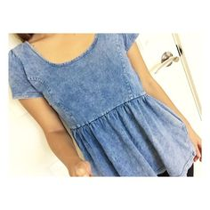 Denim peplum top Super cute peplum top!! No Trade✖️ Tops