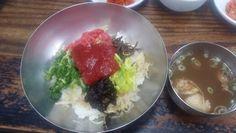 진주 중앙시장 내 천황식당 육회비빔밥