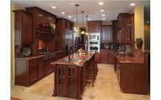 Rich in color, very elegant kitchen.