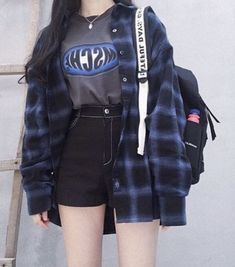Edgy Outfits, Teen Fashion Outfits, Korean Outfits, Mode Outfits, Grunge Outfits, Grunge Fashion, Cute Casual Outfits, Girl Outfits, Style Fashion