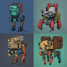 ArtStation - Colored Robots, Mehrdad Malek