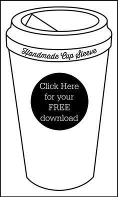 template printout for cups used for displaying cup cozies