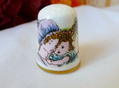 Vintage THIMBLE Mother & Child Thimble COLLECTIBLE by vintagelady7, $5.00