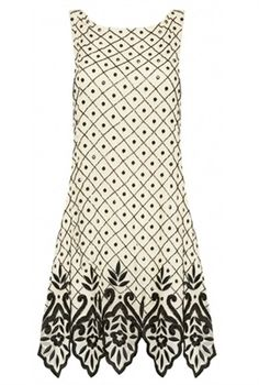 Dot Embellished Sleeveless Shift Dress