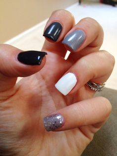 Manicure - Ombré gray nails