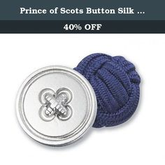 """Prince of Scots Button Silk Knots Cufflinks Collection - Royal. Make a dramatic statement with these superb cufflinks. Solid or two colour silk knot cufflinks. Measures 0.5"""" x 1"""". Great for weddings, groups, parties, or individuals. Prince of Scots is a trademarked accessory collection specializing in Modern European Luxury."""
