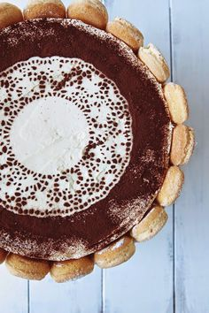 Tiramisu Mud Cake with Mascarpone Frosting