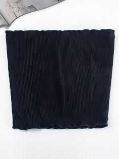 Ribbed Bandeau Top -SheIn(Sheinside)