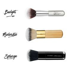 The Best Makeup Brushes In Every Price Range Foundation Brush - Opt for a big kabuki brush to apply your liquid foundation for a flawless, airbrush-effect finish. Best Makeup Brushes, Eye Brushes, Eyeshadow Brushes, Makeup Tools, Best Makeup Products, Makeup Ideas, Best Foundation Brush, Foundation Makeup, How To Apply Foundation