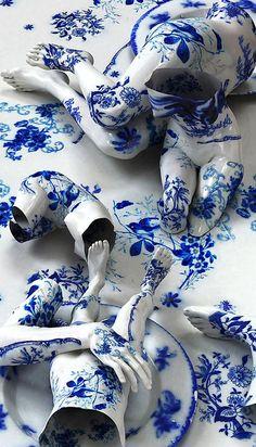 Creative Tattoos, Porcelain, Kim, Joon, and Sculpture image ideas & inspiration on Designspiration Kim Joon, Illustration Arte, Illustrations, Art Sculpture, Ceramic Sculptures, Wire Sculptures, Modern Sculpture, Korean Artist, Art Design
