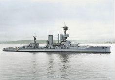 La Armada de Chile, Acorazado Almirante Latorre formally HMS Canada. Colorized