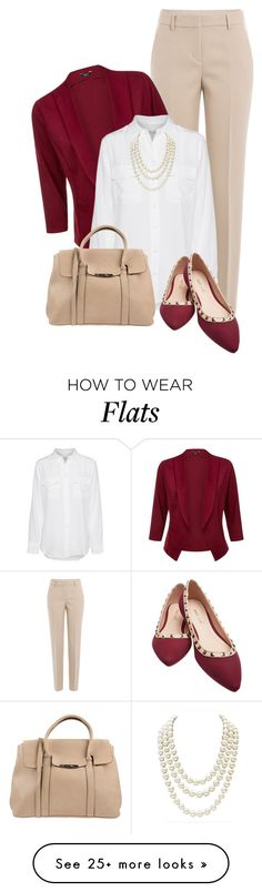 """Flats for the Office"" by soleuza on Polyvore featuring DKNY, Equipment, Wet Seal, Pieces and Chanel"