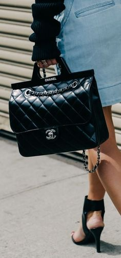 A modern interpretation of Coco Chanel's iconic handbag Outfits, Outfit Ideas, Outfit Accessories, Cute Accessories