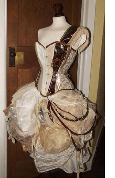 -steam punk wedding dress-  I would actually choose a wedding over eloping just so I could wear this on the altar.