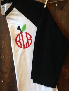 Teacher Monogram Baseball Shirt Teacher Raglan by TrendyTransfers